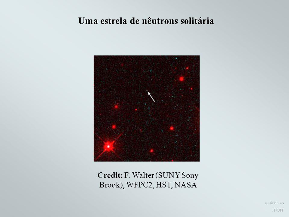 Uma estrela de nêutrons solitária