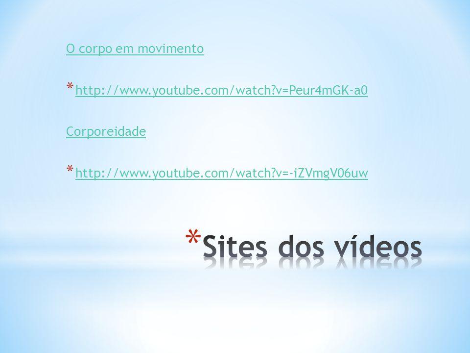 Sites dos vídeos O corpo em movimento