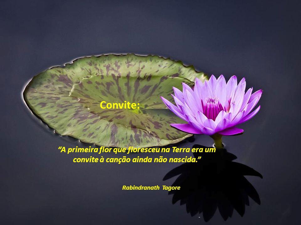 Convite: A primeira flor que floresceu na Terra era um convite à canção ainda não nascida. Rabindranath Tagore.
