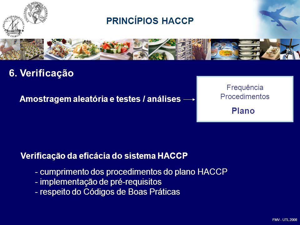 6. Verificação PRINCÍPIOS HACCP