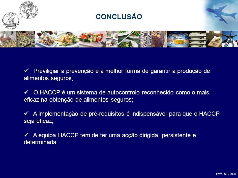 CONCLUSÃO  Previligiar a prevenção é a melhor forma de garantir a produção de alimentos seguros;