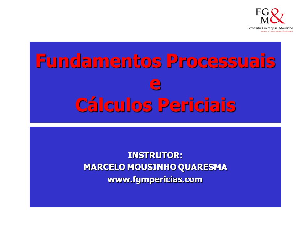 Fundamentos Processuais MARCELO MOUSINHO QUARESMA