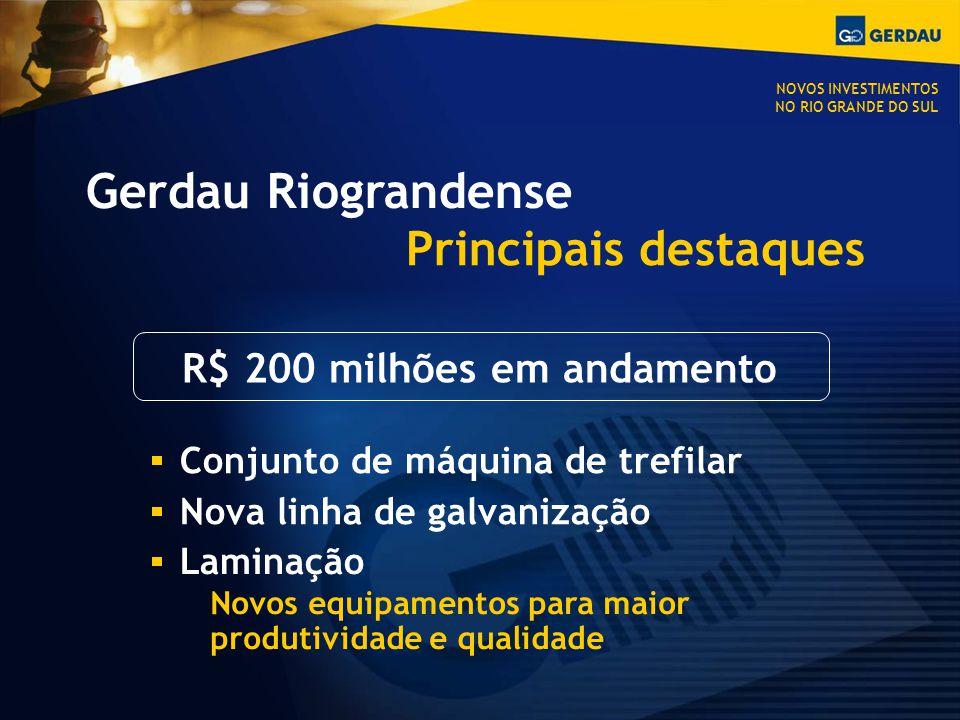R$ 200 milhões em andamento