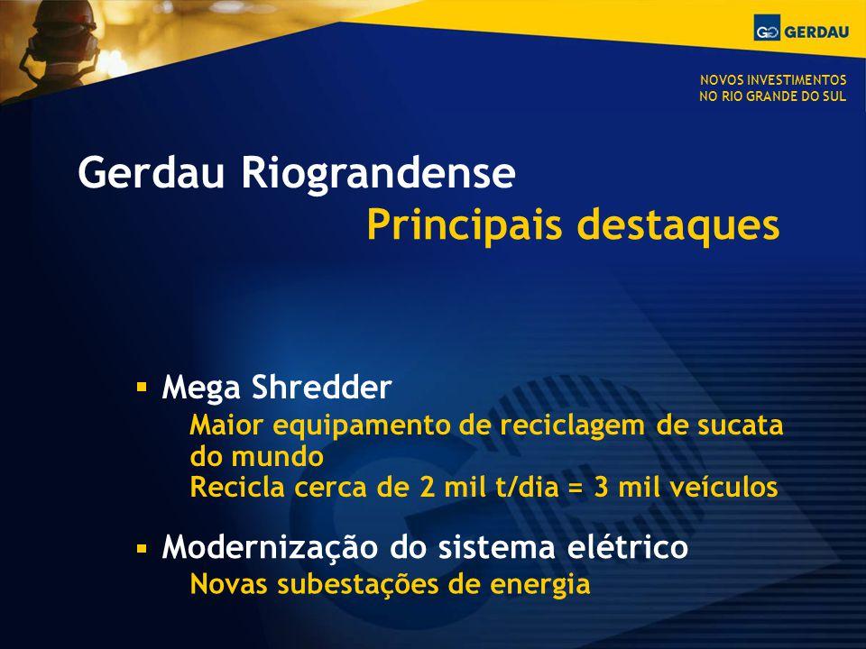 Gerdau Riograndense Principais destaques Mega Shredder