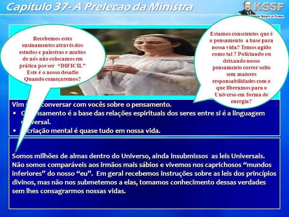Capítulo 37- A Prelecao da Ministra