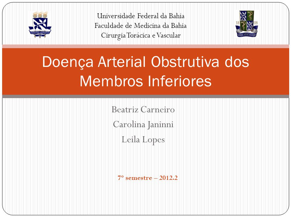 Doença Arterial Obstrutiva dos Membros Inferiores