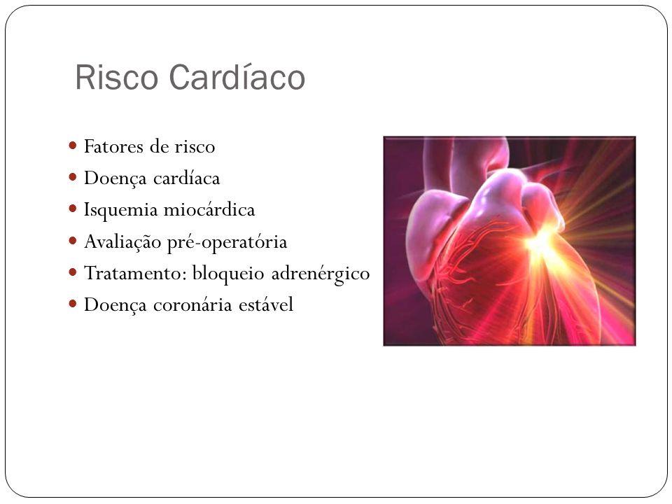 Risco Cardíaco Fatores de risco Doença cardíaca Isquemia miocárdica