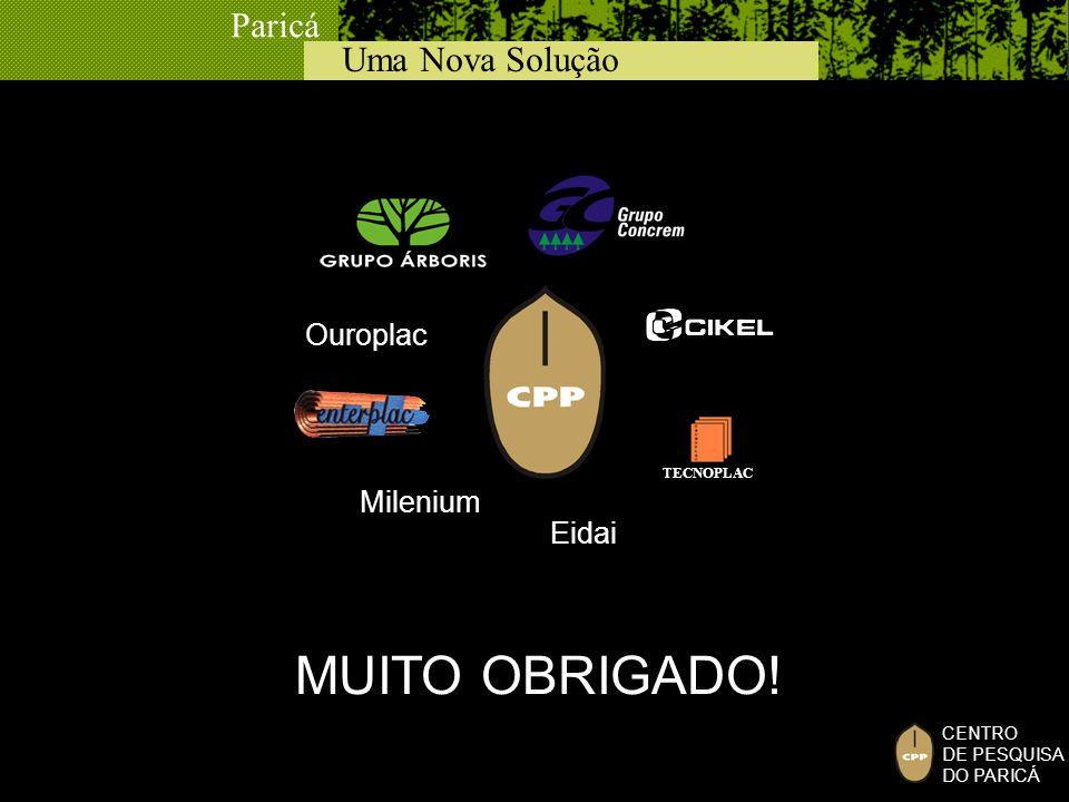 Ouroplac TECNOPLAC Milenium Eidai MUITO OBRIGADO!