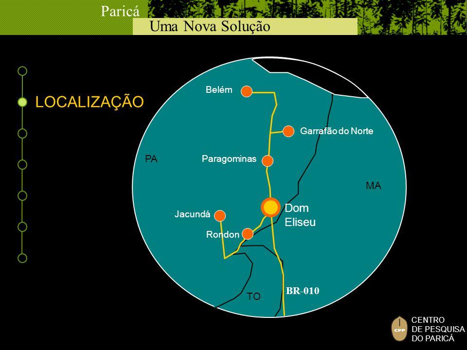 LOCALIZAÇÃO Dom Eliseu PA MA BR-010 TO Belém Garrafão do Norte