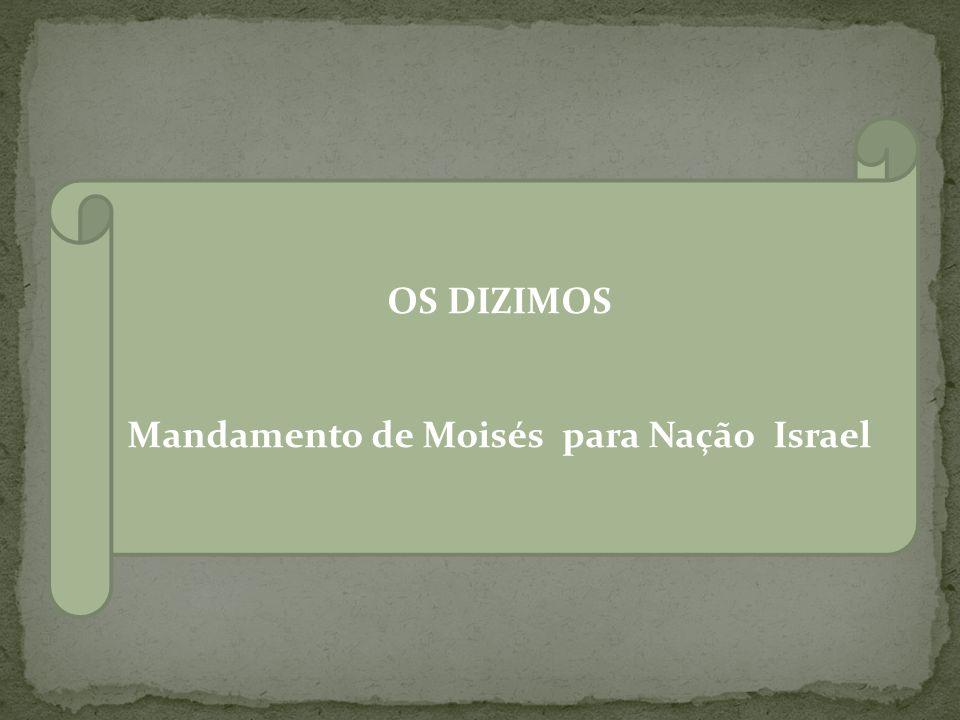 Mandamento de Moisés para Nação Israel