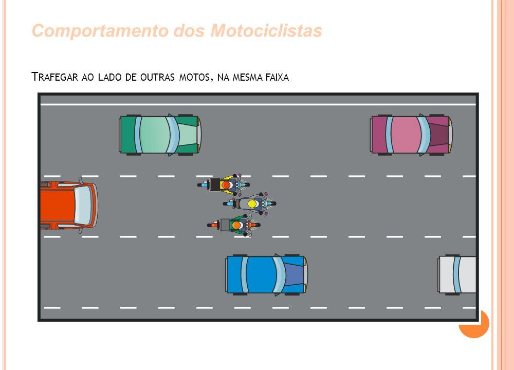Trafegar ao lado de outras motos, na mesma faixa