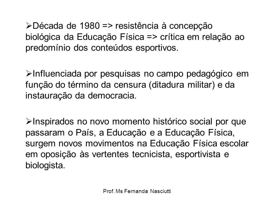 Prof. Ms Fernanda Nasciutti