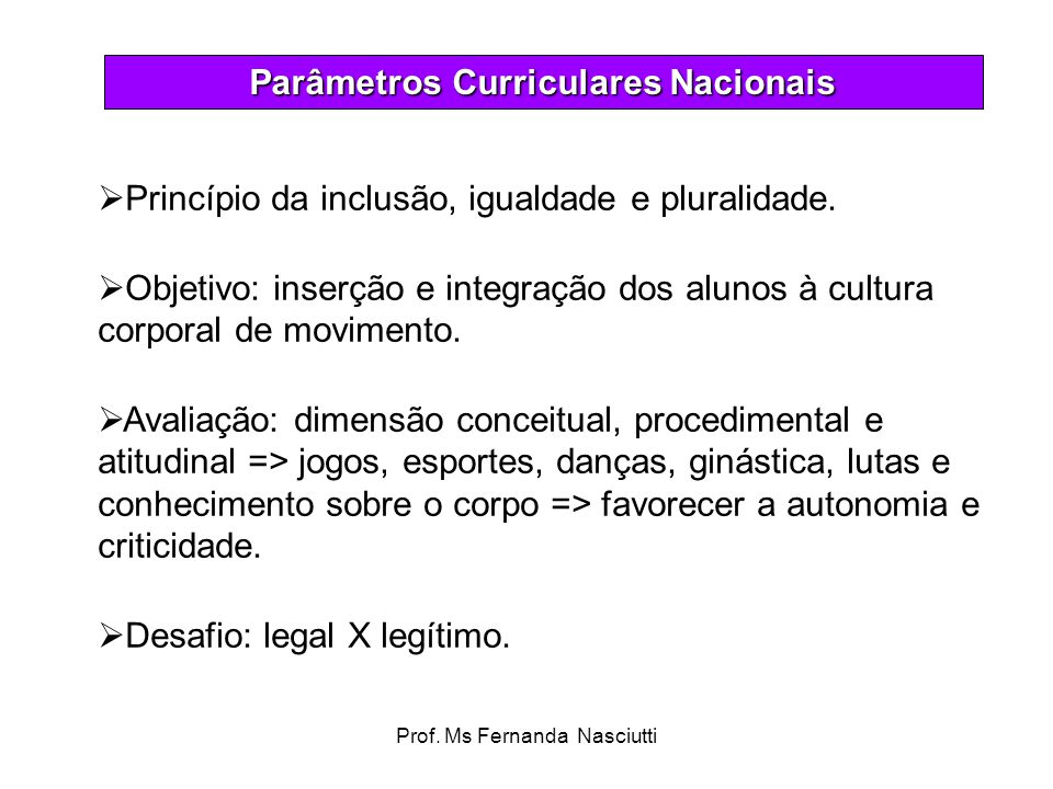 Parâmetros Curriculares Nacionais