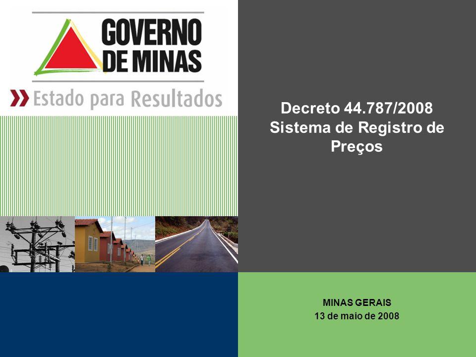 Decreto 44.787/2008 Sistema de Registro de Preços