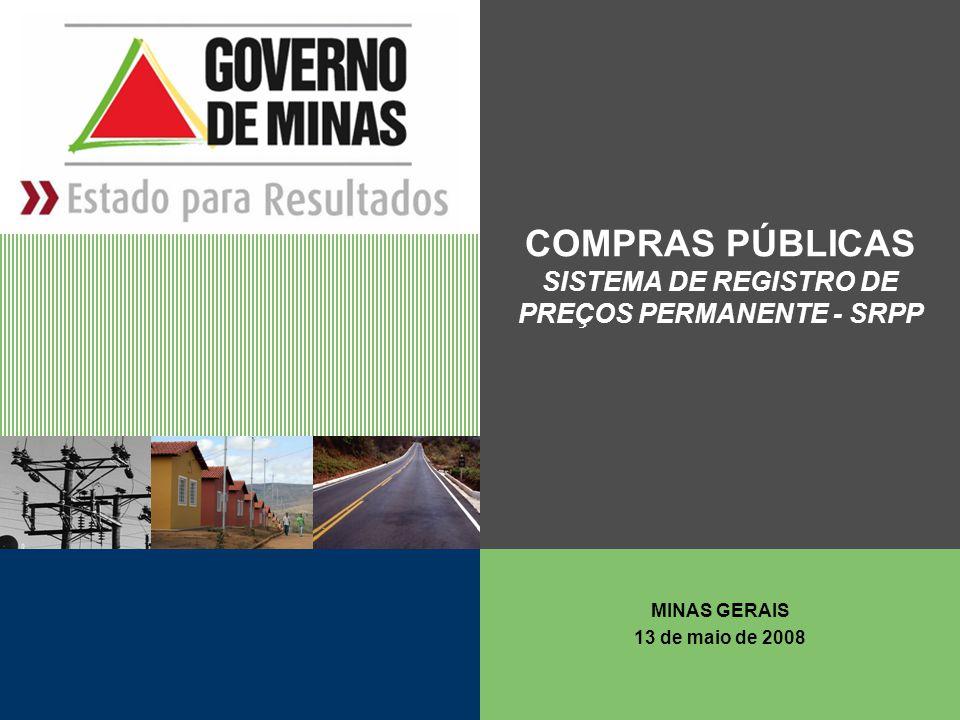 COMPRAS PÚBLICAS SISTEMA DE REGISTRO DE PREÇOS PERMANENTE - SRPP