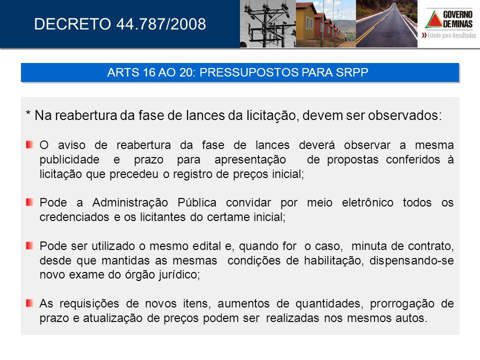 ARTS 16 AO 20: PRESSUPOSTOS PARA SRPP
