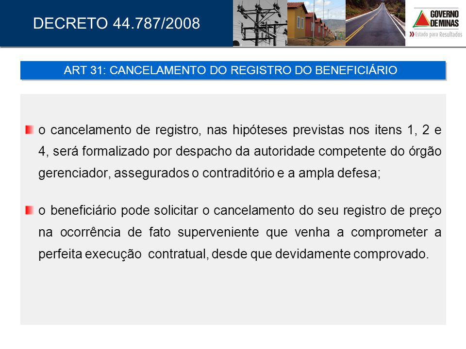 ART 31: CANCELAMENTO DO REGISTRO DO BENEFICIÁRIO