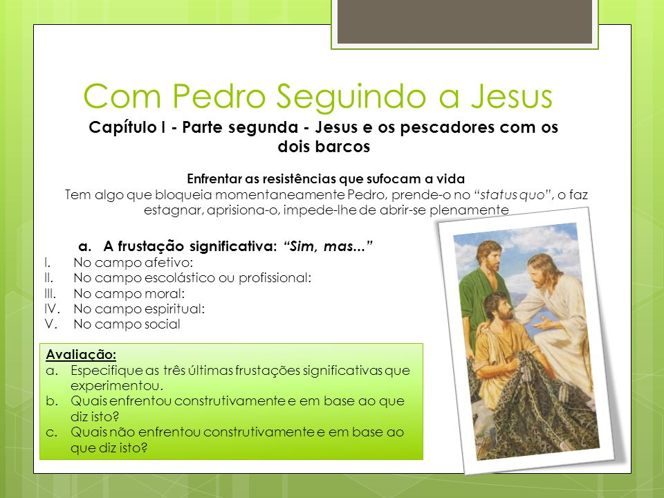 Com Pedro Seguindo a Jesus