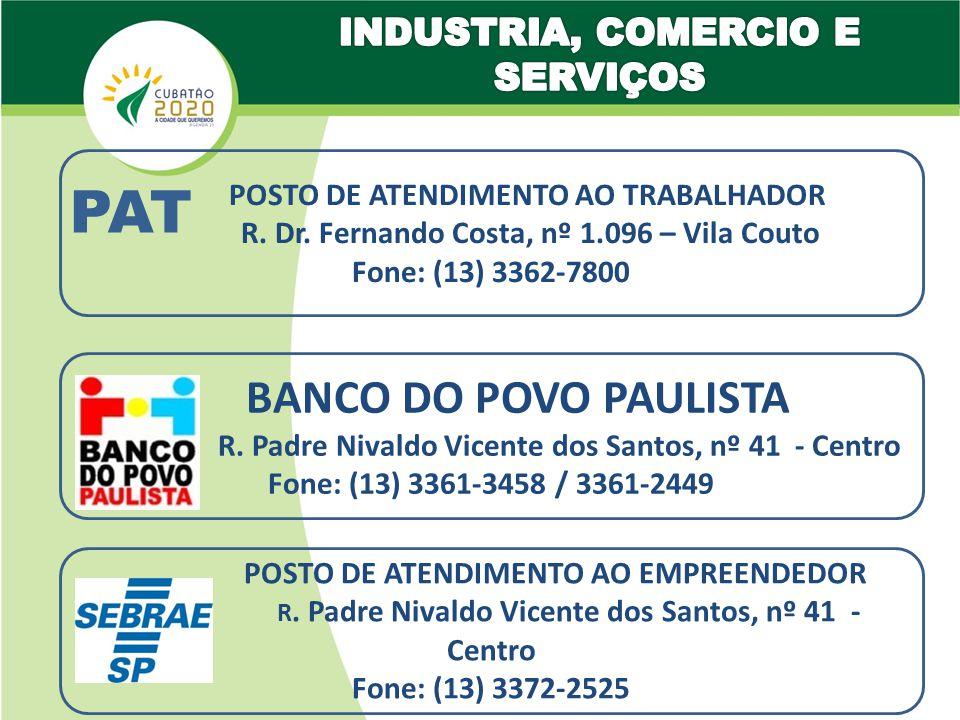 PAT BANCO DO POVO PAULISTA l INDUSTRIA, COMERCIO E SERVIÇOS