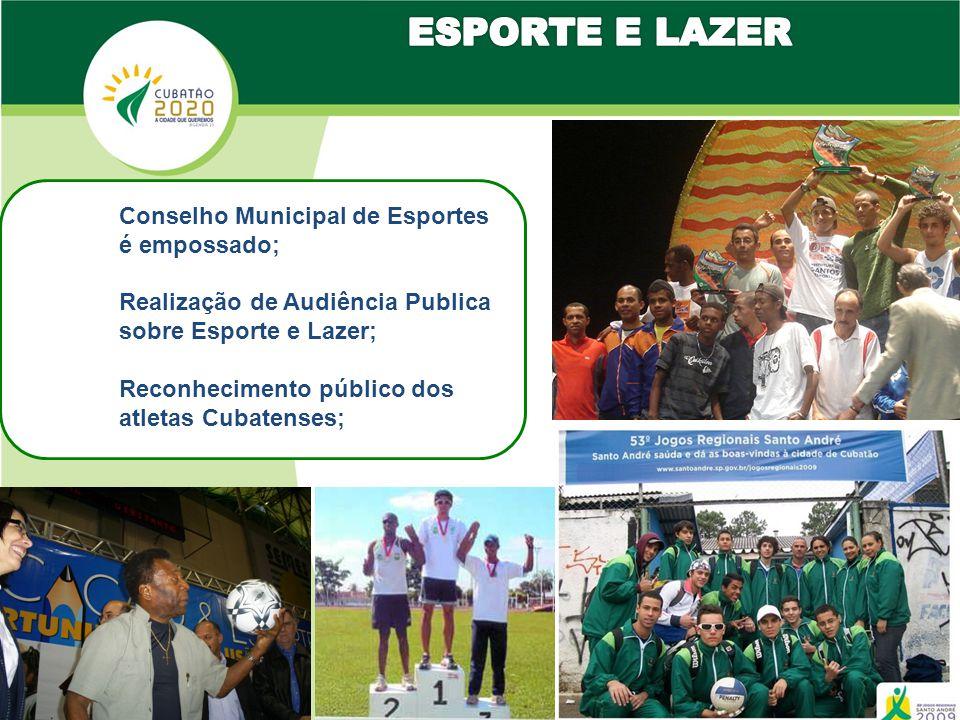ESPORTE E LAZER Conselho Municipal de Esportes é empossado;