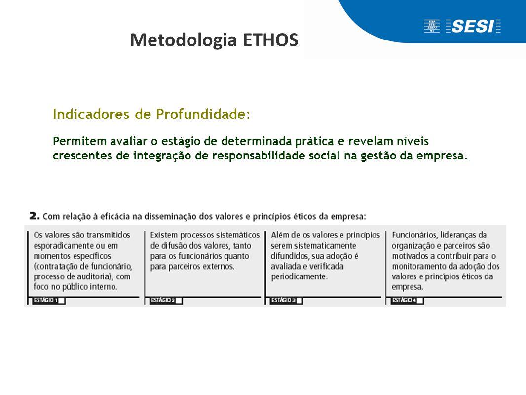 INDICADORES ETHOS de Responsabilidade Social - Setoriais