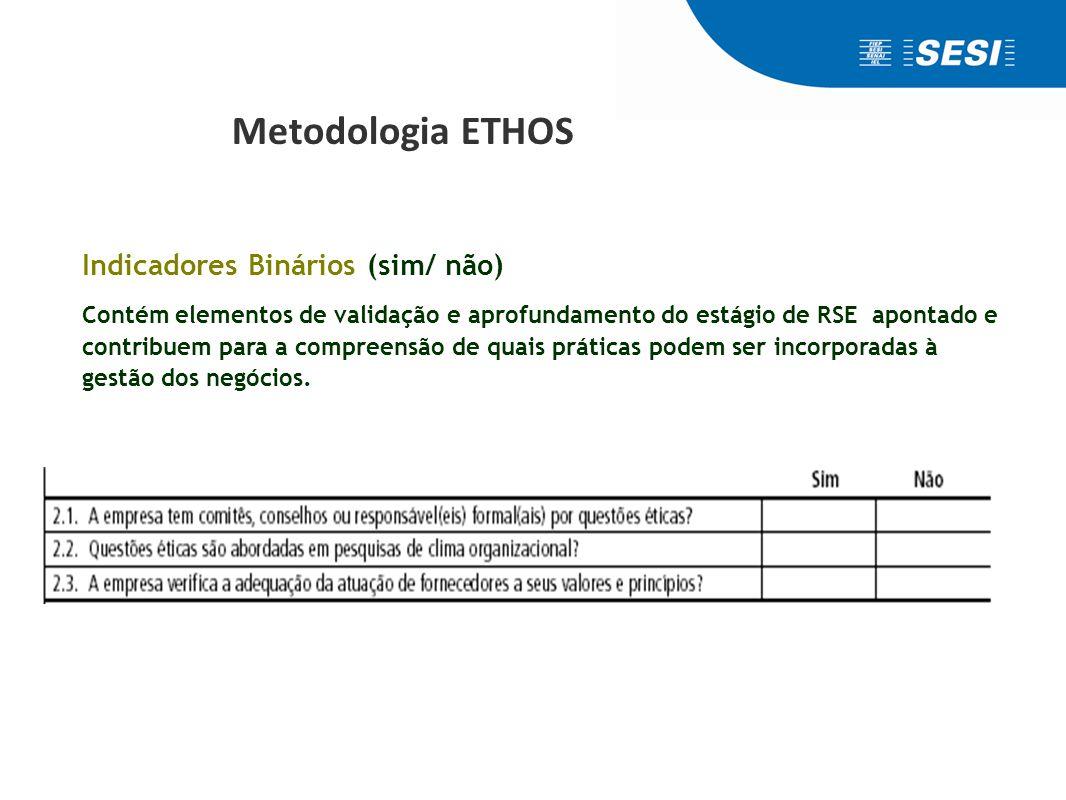 Metodologia ETHOS Indicadores de Profundidade: