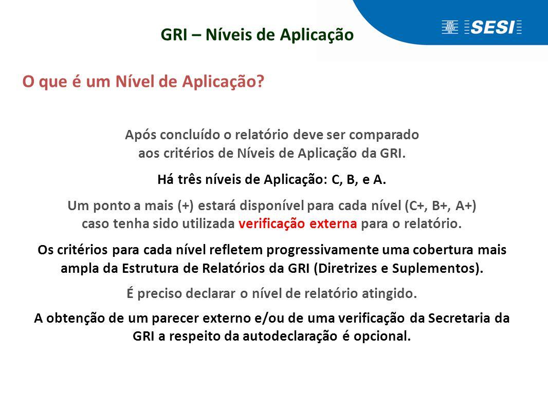 Metodologia de aplicação das Diretrizes GRI