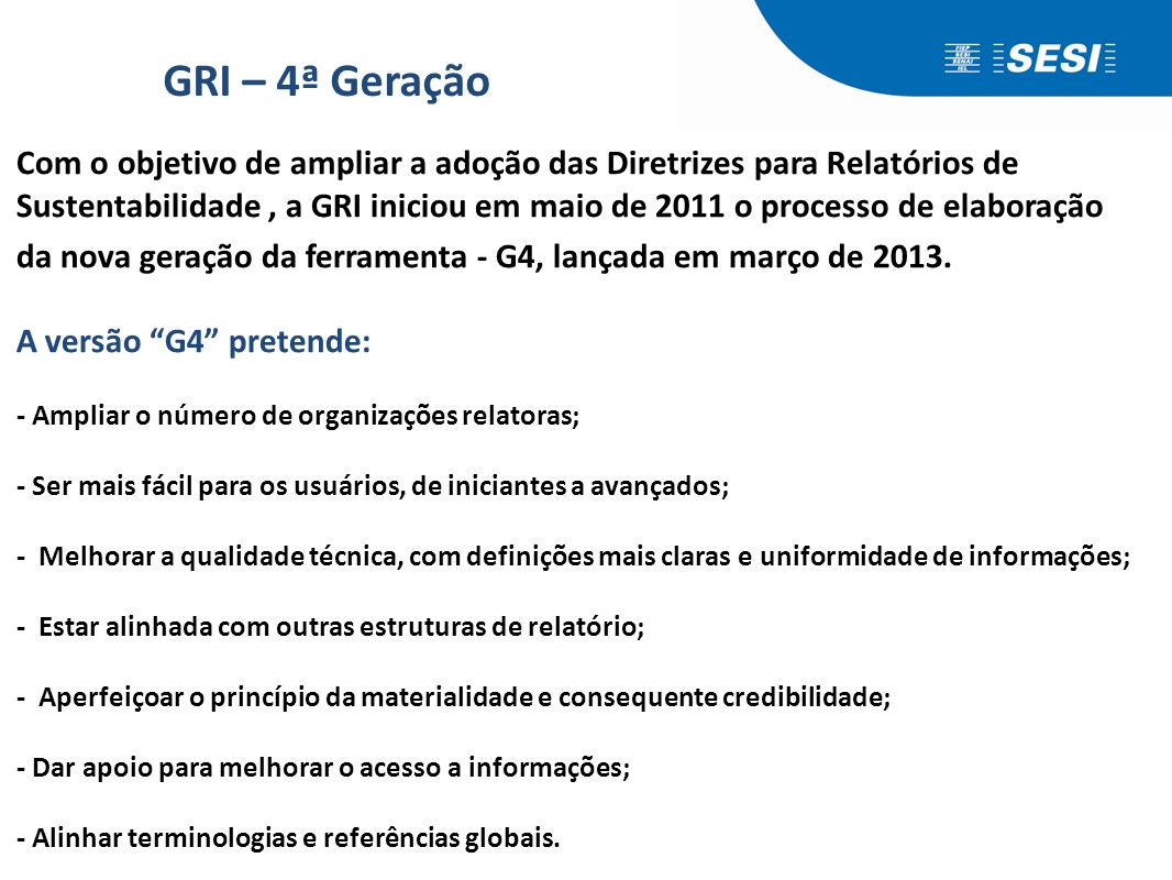 Principais críticas das empresas ao GRI