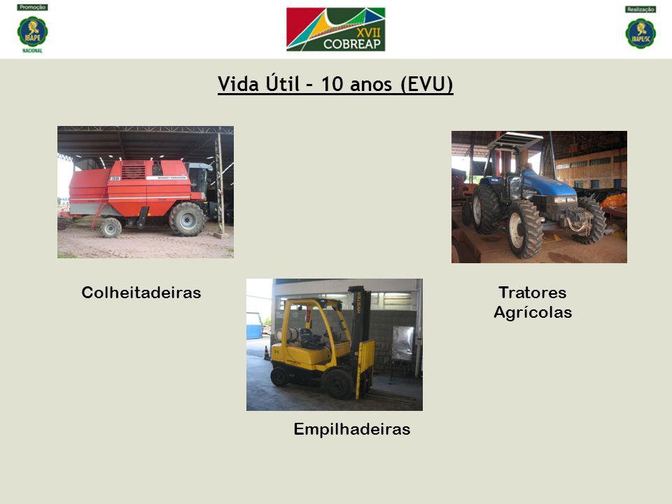 Vida Útil – 10 anos (EVU) Colheitadeiras Tratores Agrícolas