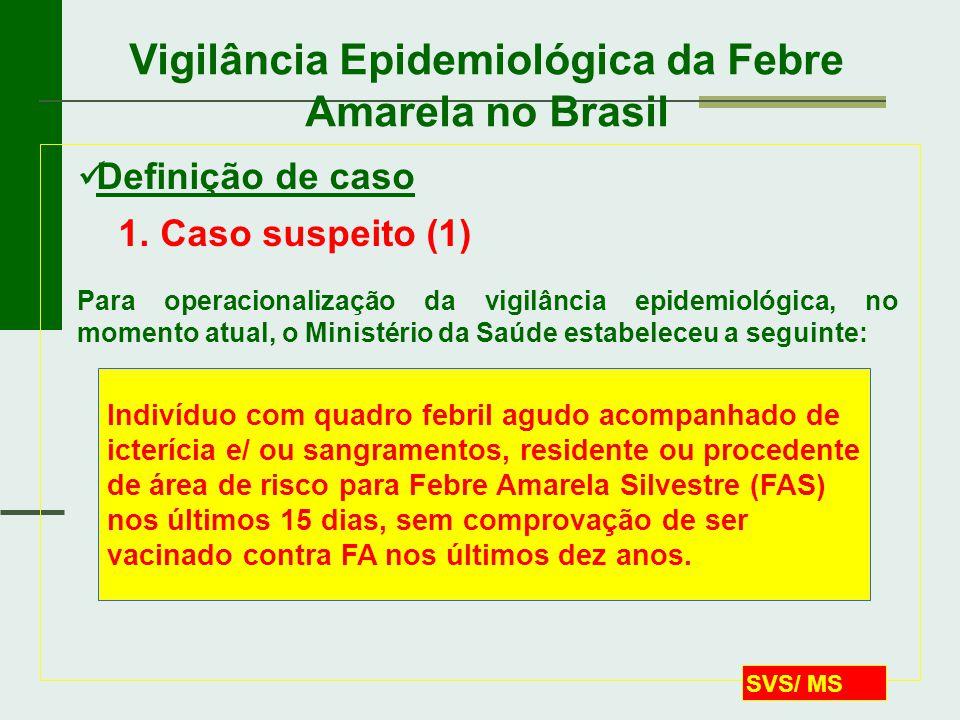 Vigilância Epidemiológica da Febre Amarela no Brasil