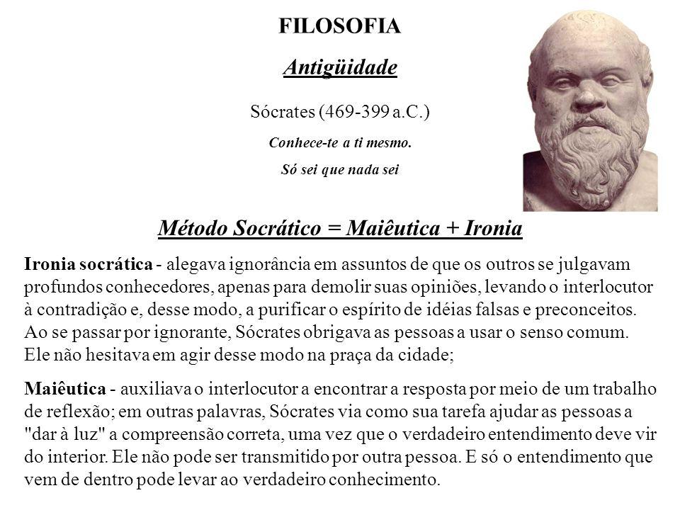 Método Socrático = Maiêutica + Ironia