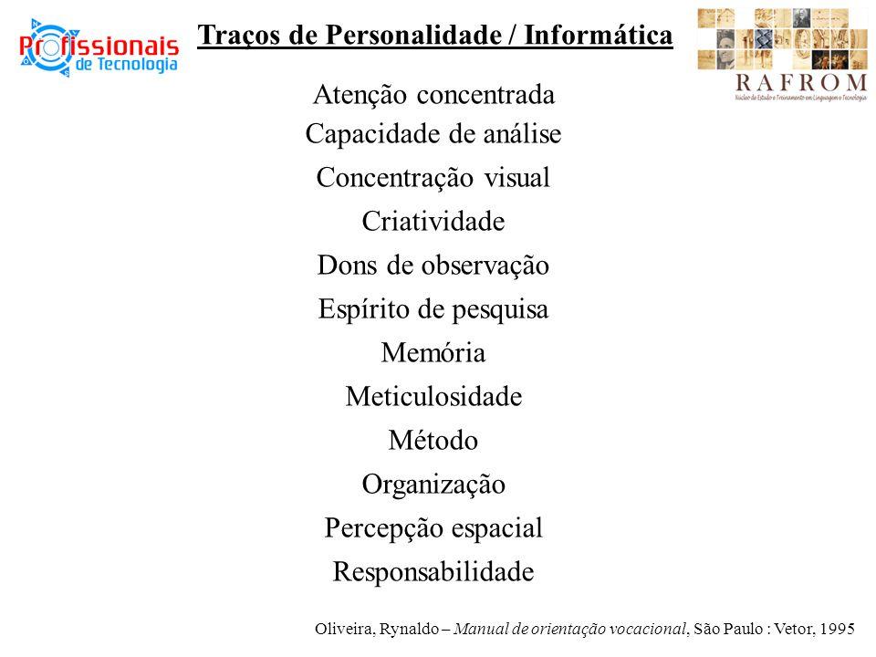 Traços de Personalidade / Informática