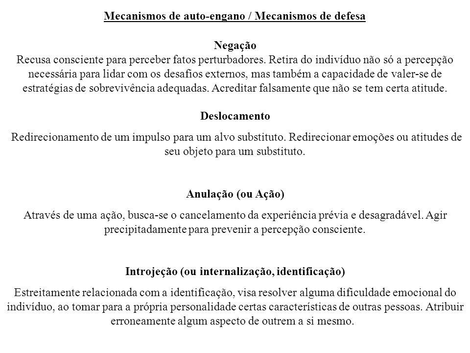 Mecanismos de auto-engano / Mecanismos de defesa