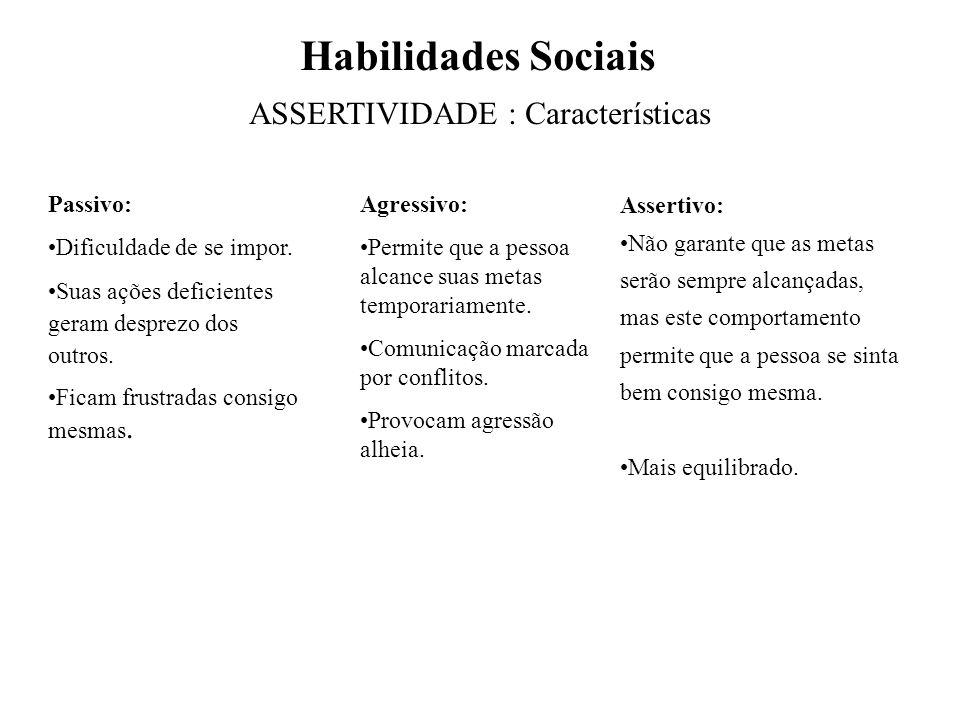 ASSERTIVIDADE : Características