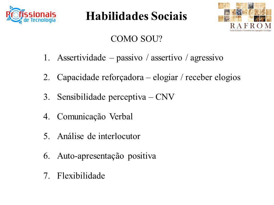 Habilidades Sociais COMO SOU