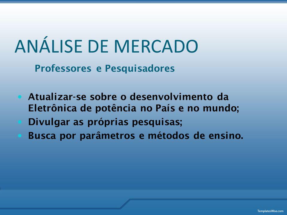 ANÁLISE DE MERCADO Professores e Pesquisadores