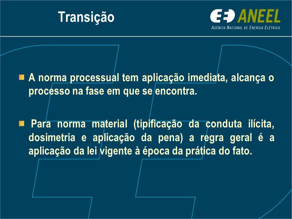 Transição A norma processual tem aplicação imediata, alcança o processo na fase em que se encontra.