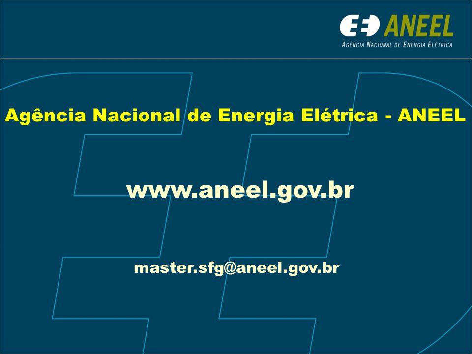 www.aneel.gov.br Agência Nacional de Energia Elétrica - ANEEL
