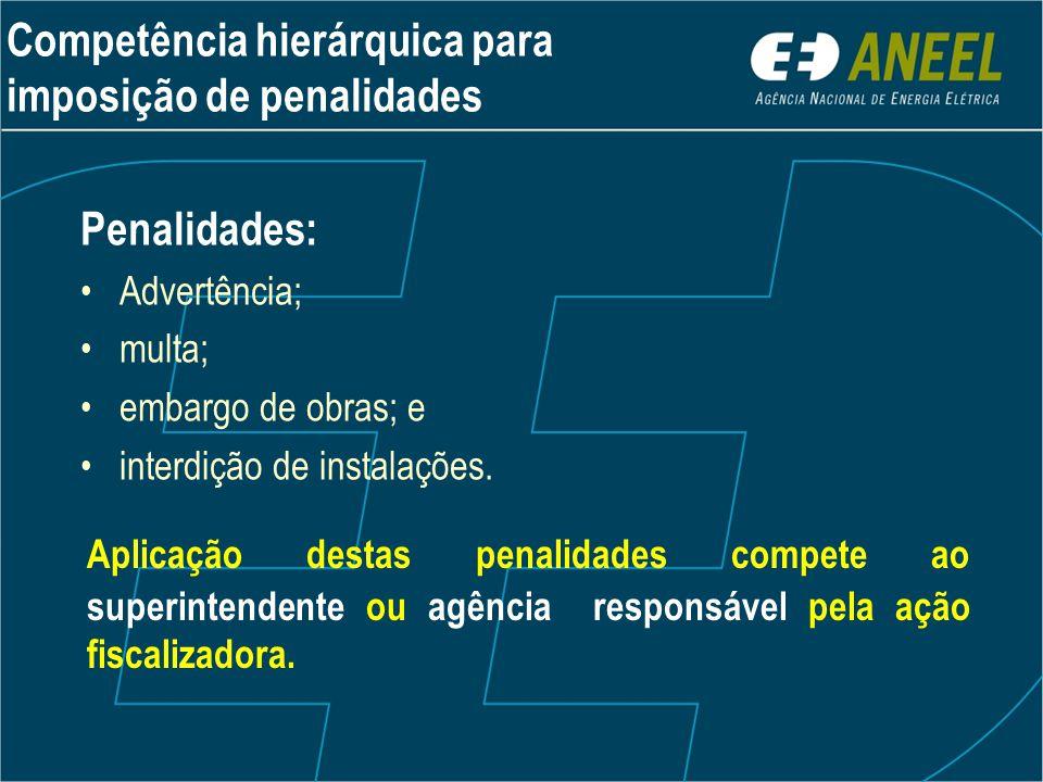 Competência hierárquica para imposição de penalidades