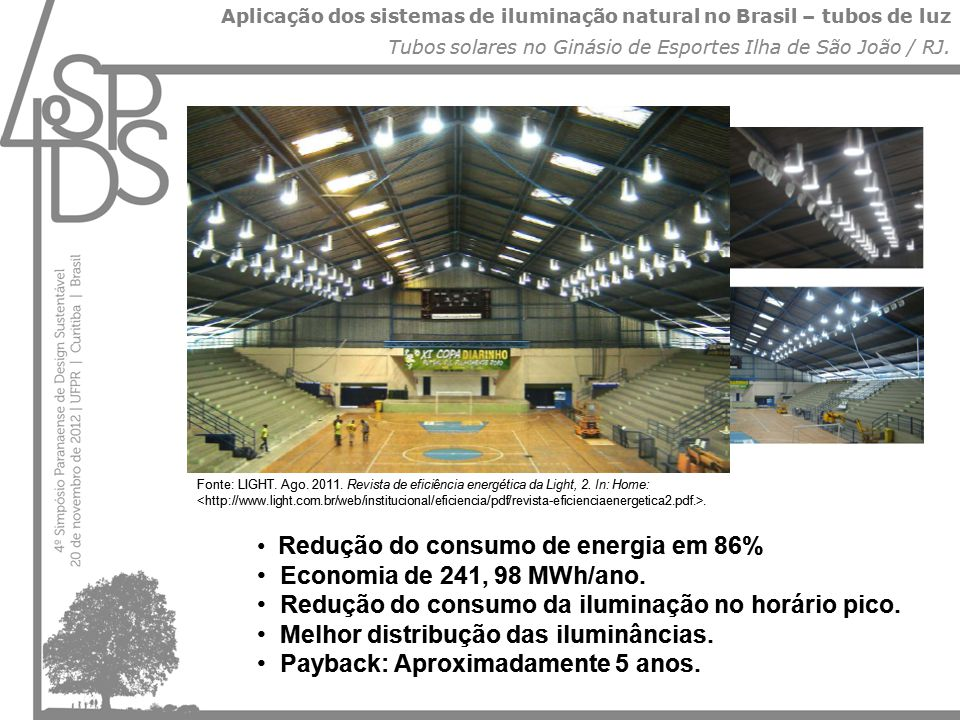 Aplicação dos sistemas de iluminação natural no Brasil – tubos de luz