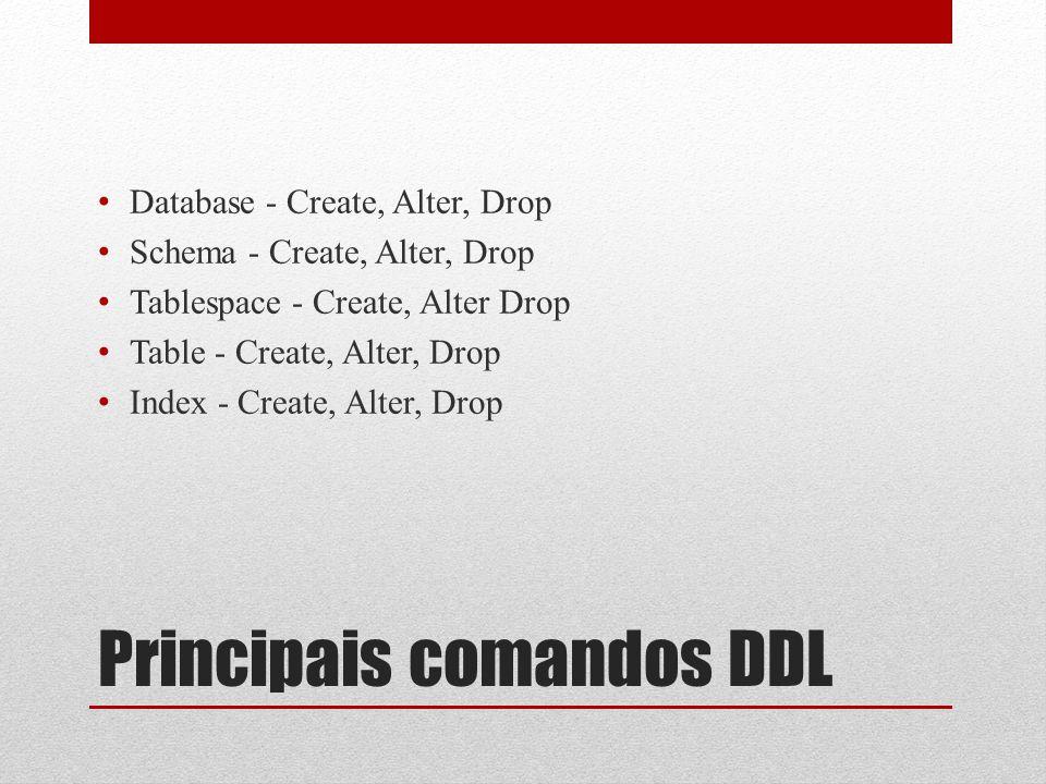 Principais comandos DDL