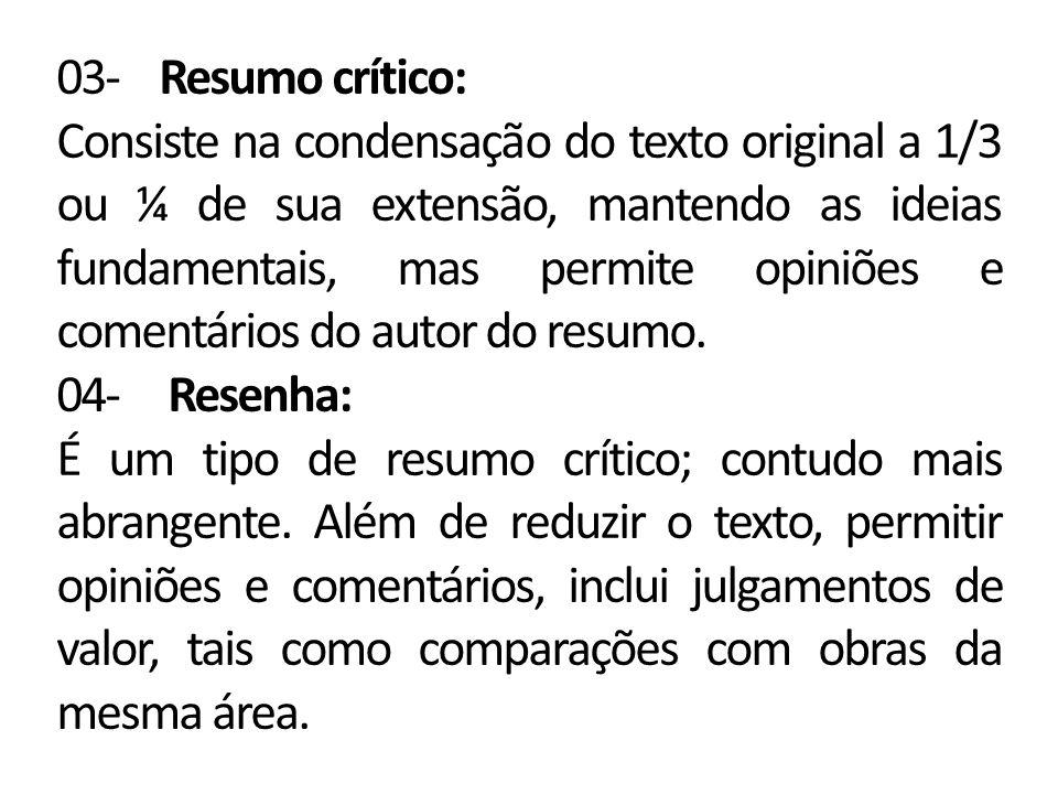 03- Resumo crítico: