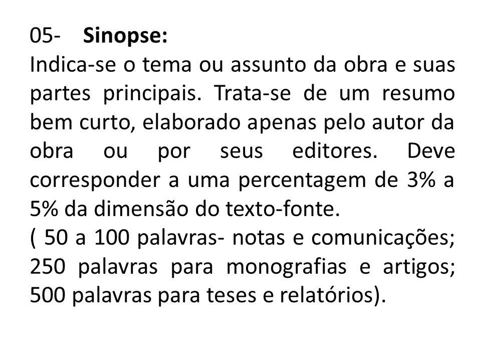 05- Sinopse: