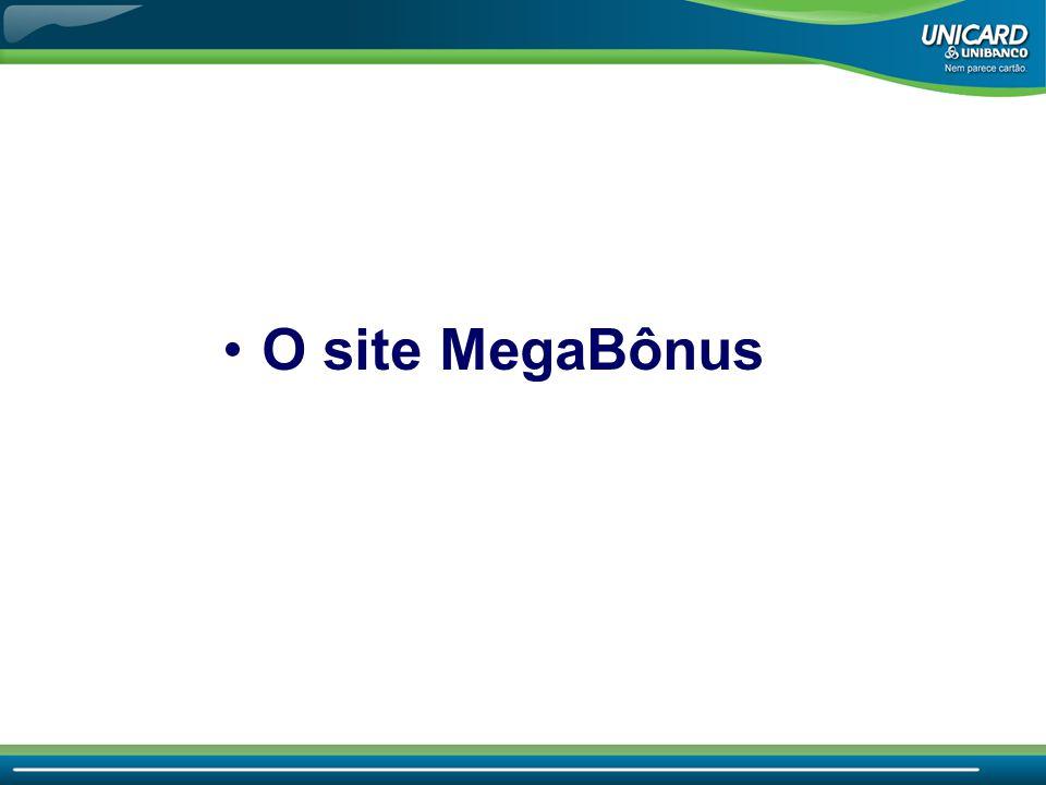 O site MegaBônus