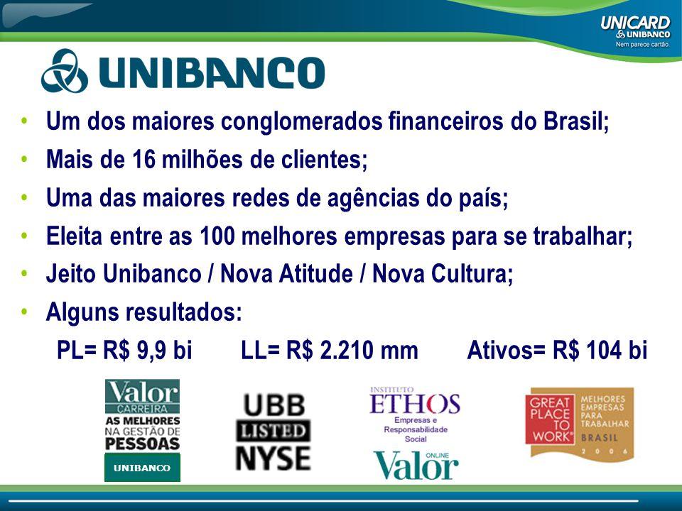 Um dos maiores conglomerados financeiros do Brasil;