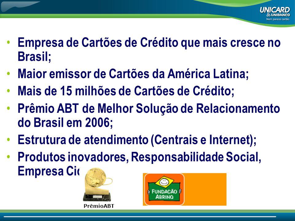 Empresa de Cartões de Crédito que mais cresce no Brasil;