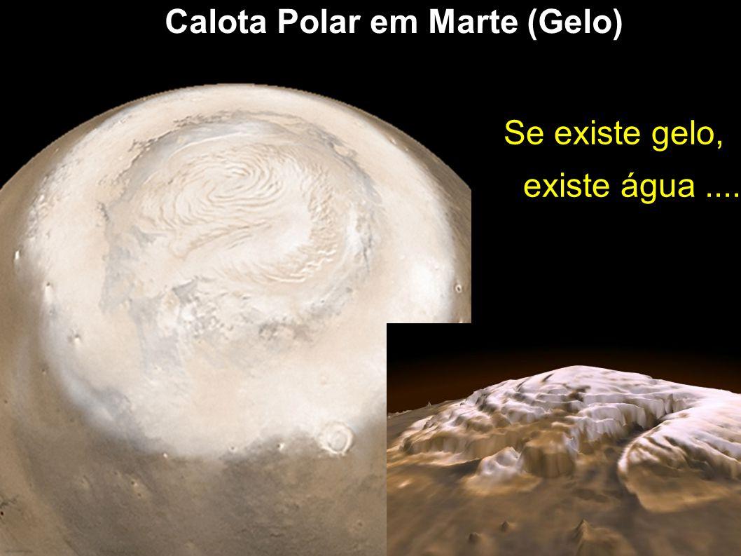 Calota Polar em Marte (Gelo)