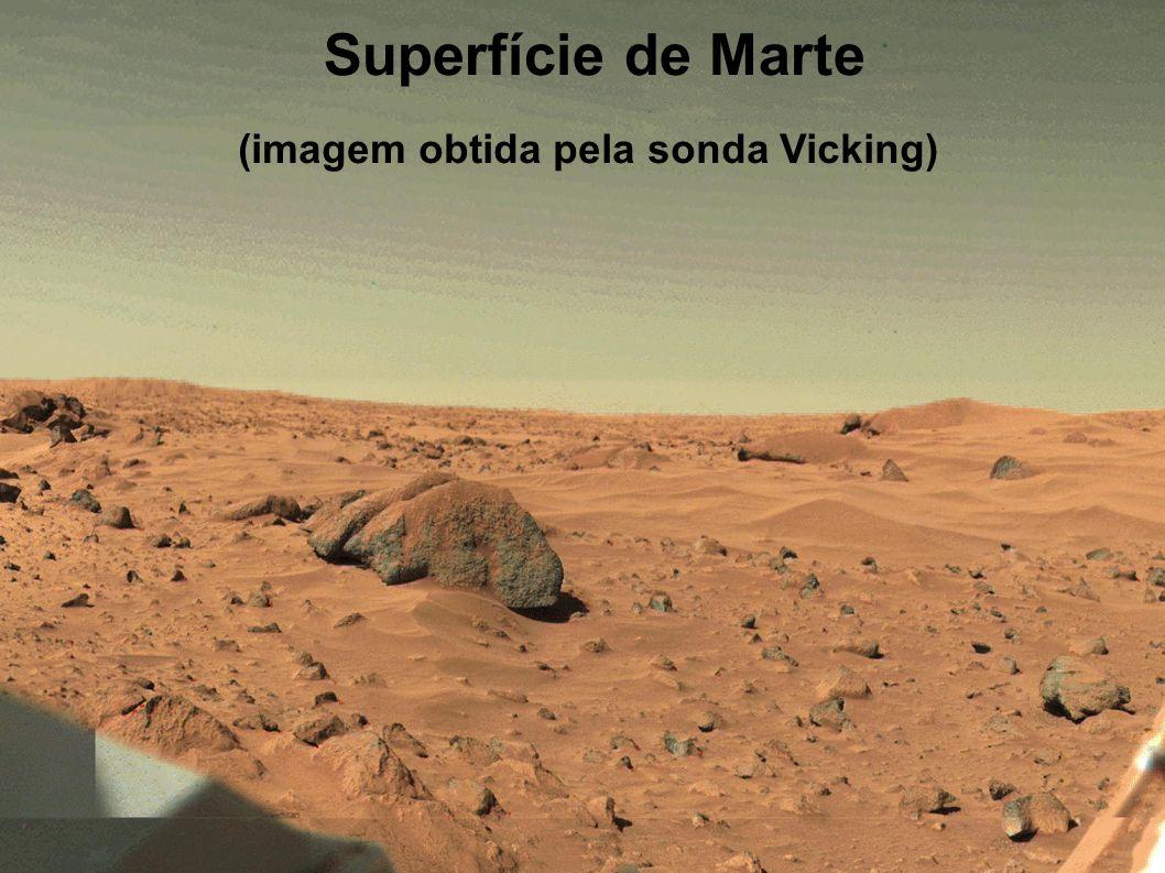 Superfície de Marte (imagem obtida pela sonda Vicking)