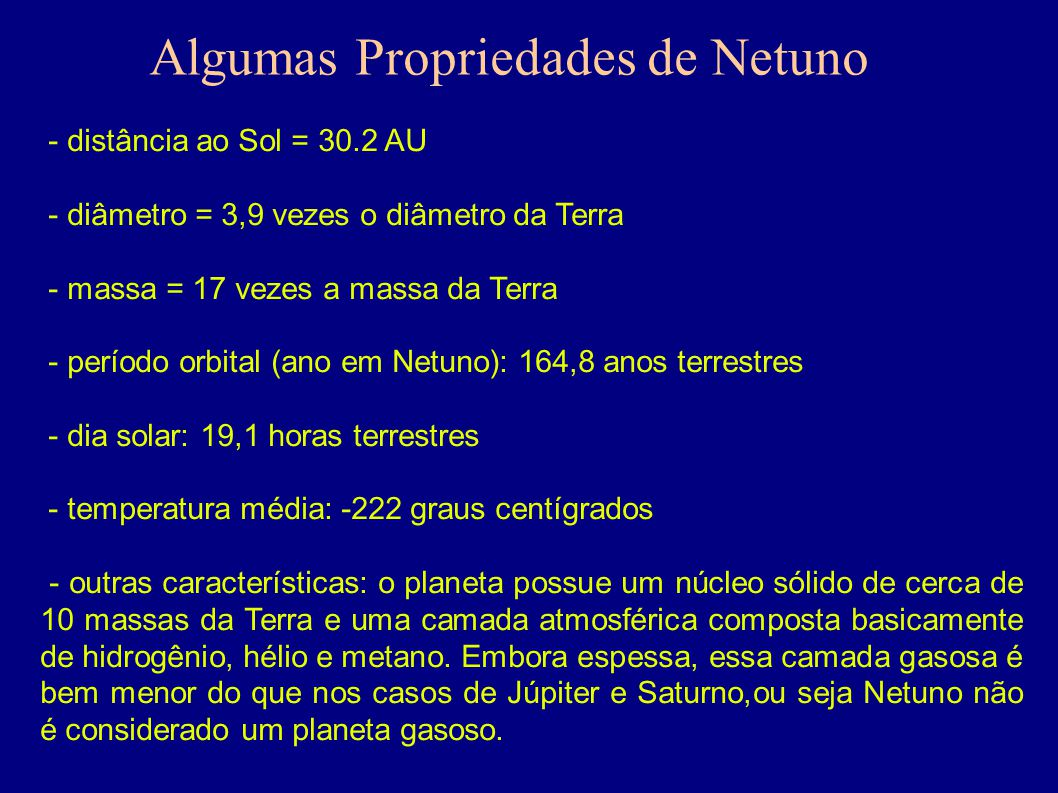 Algumas Propriedades de Netuno