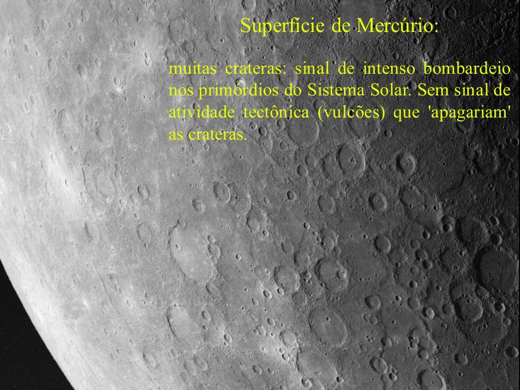 Superfície de Mercúrio: